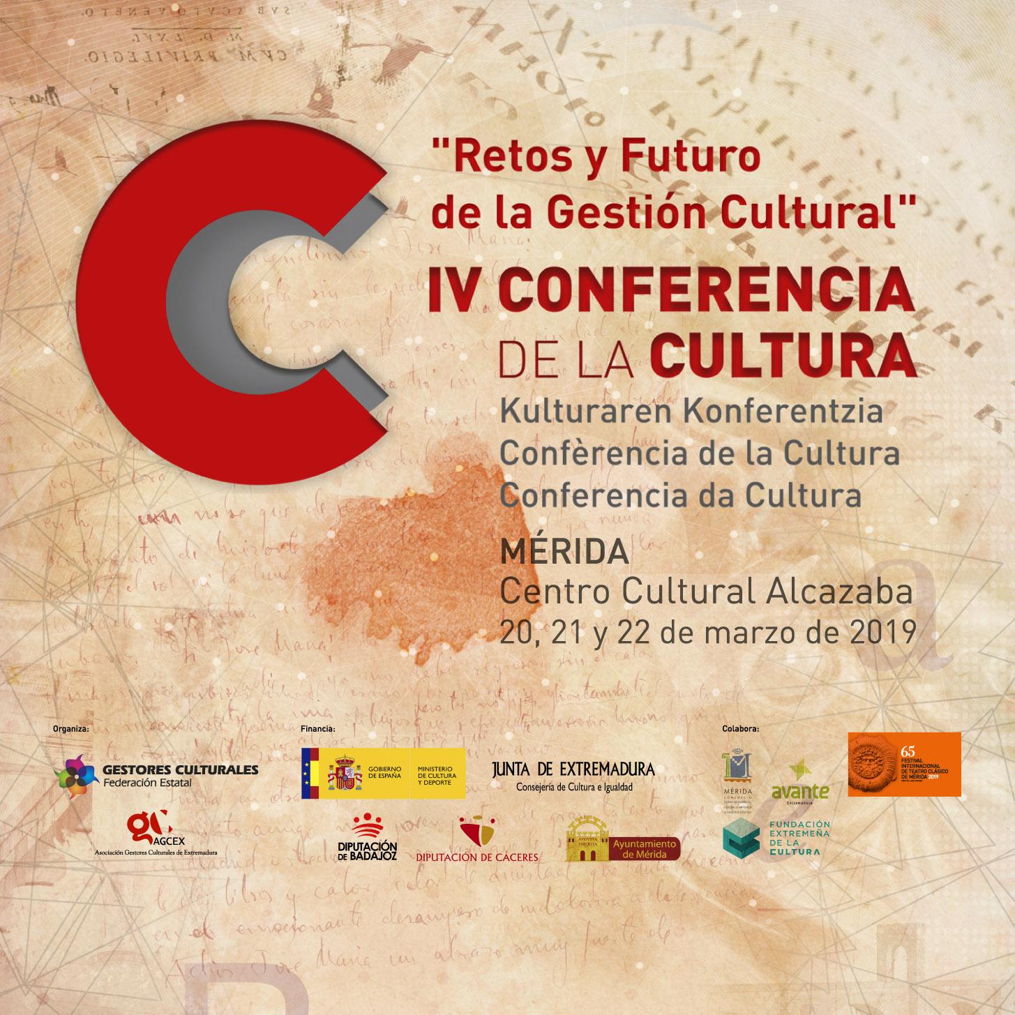 Cartel de la IV Conferencia Estatal de la Cultura